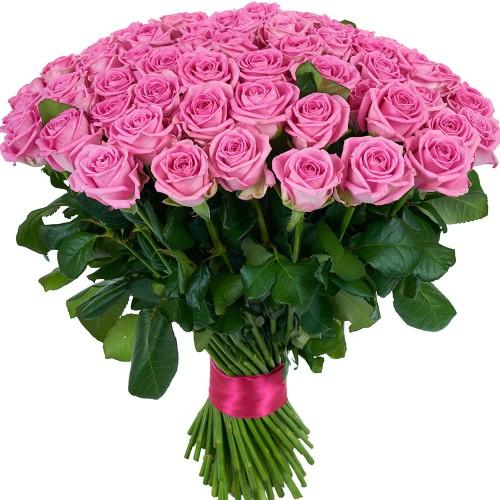 Купить на заказ Заказать Букет из 101 розовой розы с доставкой по Уральску с доставкой в Уральске