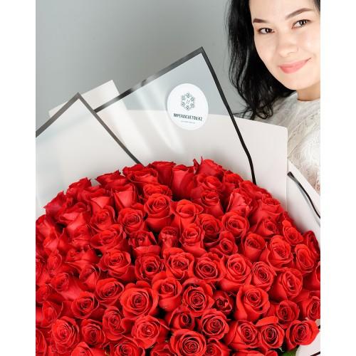 Купить на заказ Заказать Букет из 101 красной розы с доставкой по Уральску с доставкой в Уральске