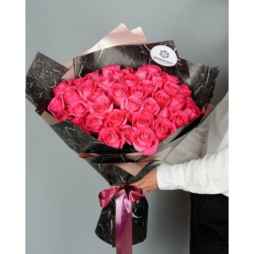 Купить на заказ Заказать Букет из 51 розовых роз с доставкой по Уральску с доставкой в Уральске